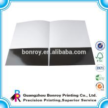 Carpeta de presentación de papel de tamaño laminado brillante a4 con logotipo personalizado impreso
