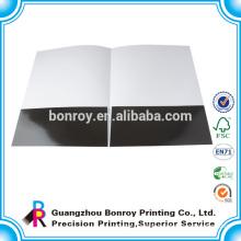 Glossy laminated a4 size paper presentation folder with custom logo printed