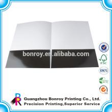 Pasta de apresentação de papel de tamanho laminado a4 brilhante com logotipo personalizado impresso