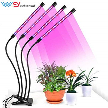 Abrazadera Grow Light Led 40W 4 CABEZALES