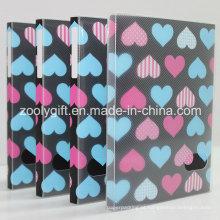 """Love Heart impresso plástico PP / PVC 4X6 """"Álbuns de fotos com caixa clara"""