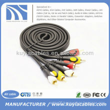 High Quality 5FT/1.5M 3RCA to 3RCA Audio Cable