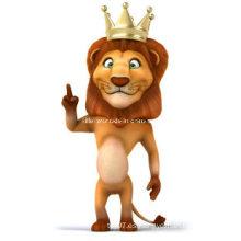 Eco-Friendly rey tigre de plástico para mascotas China ICTI fábrica niños juguetes