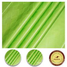 African bazin 100% cotton green fabric dress material stock guinea brocade shadda