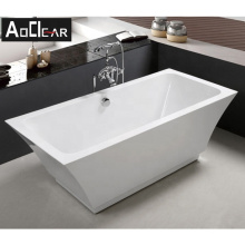 Aokeliya modern style fast installation freestanding bathtubs for two person affordable price large bathtub for home