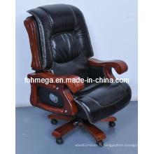 Chaise de bureau pivotante de luxe épais pivotante / chaise de salle de bureau en bois massif (FOH-1235)