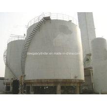 Lox, Lin, Lar, LNG, Lco2 Réservoir sphérique cryogénique de type vertical avec capacité 300-3000m3