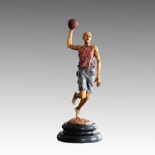Estatua de Deportes Jugador de Baloncesto Tiro Escultura de Bronce, Milo TPE-777 (S)