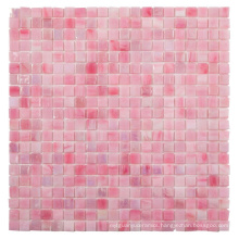 Soulscrafts Pink Square Glass Mosaic for Swimming Pool
