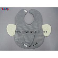 """13 """"presentes originais do bebê Plush Gray Elephant Baby Bibs"""