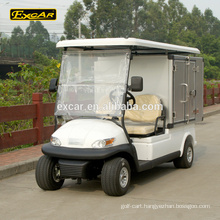 CE approved electric golf utility cart, mobile food cart, housekeeping cart