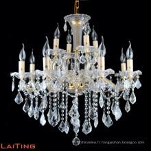 Hôtel verre lustre cristal grand empire cristal bougie lustre du fabricant 80022