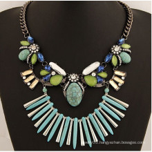 Wholesale best selling products silver chain turquoise necklace jewelry 2015
