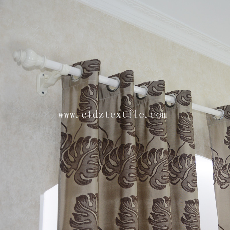 European American Popular Design of Window Curtain WZQ206 Chocolate