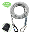 Extra Solid Dog Tie Out Cable with Spring