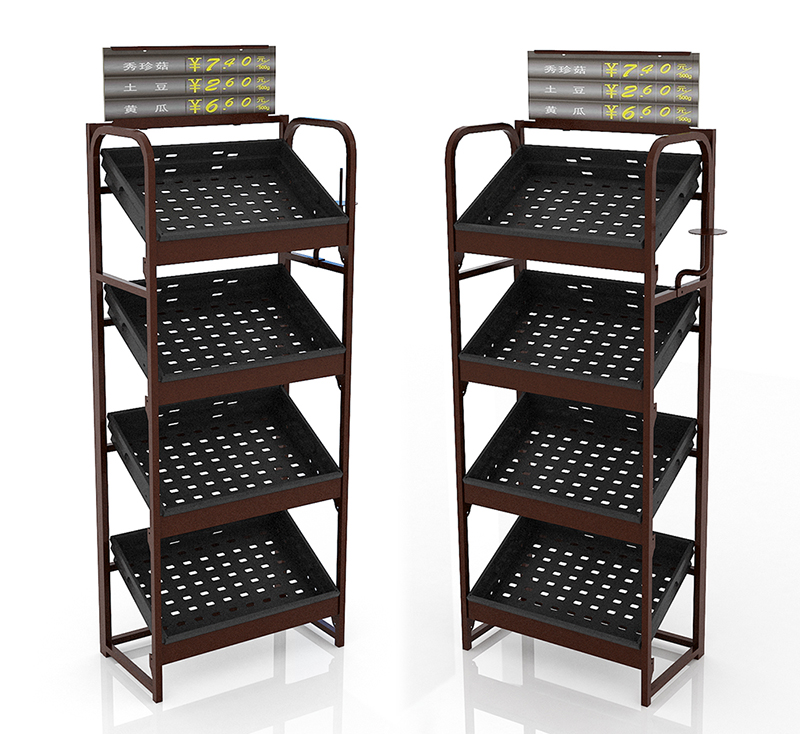 fruit metal display rack