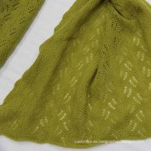 2016 bufanda de lana merino del mantón de la lana merina de Mongolia con la tela de la bufanda de la tela del ojeteador