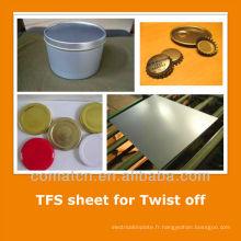 JIS standard Tin gratuit tôle d'acier pour tin can se termine