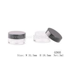 Jarra de plástico de alta calidad de mini para el polvo suelto tarro de plástico de plástico estéril con tamiz