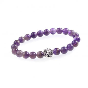 Jewelry Charm Amethyst Bead Bracelet For Women