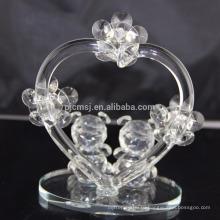 Горячая распродажа лучшее качество красивый кристалл плюшевый медведь для украшения