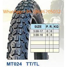 Мотоцикл шин/мотоцикл шина 3,00 3,00 -17-18 горячие продажи шаблон