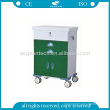 Chariot de médecine de portes de serrure de Powercoating de la série vert-foncé AG-GS004