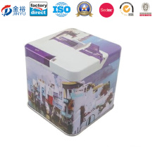 Different Designs Custom Gold Plating Metal Sign Package Tin Box
