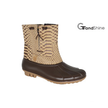 Women′s New Low PU Snow Boots