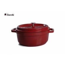 Emaille Gusseisen Kasserolle Dish / Stock Pot