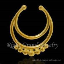 Ouro falso não penetrantes piercing nariz Tribal anel falso nariz Piercing