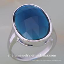 joyería zhefan mini orden Alibaba superventas plata de ley 925 anillo de piedra de descuento