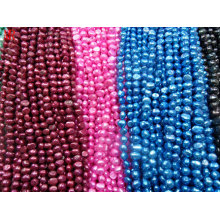 8-9mm AA Multi-Color Nugget Pearl Water Pearl Strands