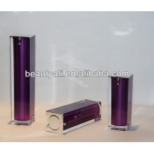 15ml 30ml 40ml 50ml 80ml 100ml 120ml Square shape acrylic airless bottle