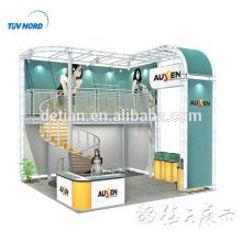 L'offre de Detian populaire kiosque d'exposition de double pont en aluminium 3x3