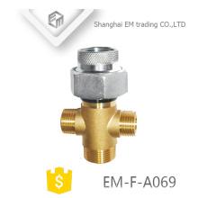EM-F-A069 Raccord en laiton nickelé multifonctionnel, zingué, nickelé