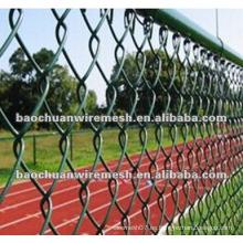 Estadio que usa la cerca revestida del acoplamiento de cadena del PVC