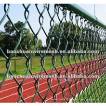 Stadium using PVC coated chain link fence