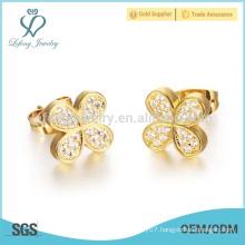 Gold butterfly earrings for women designs, indian gold earrings jewelry