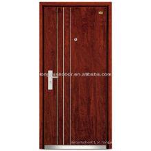 Fábrica de porta blindada de aço inoxidável à prova de aço, com quadro de porta anti-roubo grosso