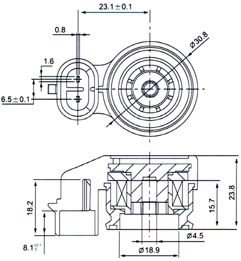 Dimension of BB18923801 Solenoid Coil: