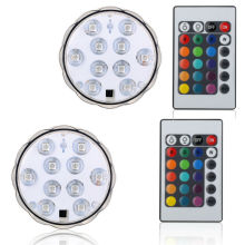 Wedding Table decoration LED Battery light Waterproof light Submersible LED Light With Remote Control