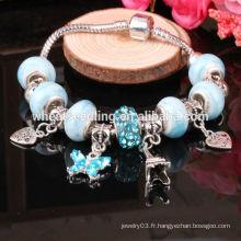Bracelet en gros bracelet en Chine Bracelet à perles en verre plaqué argent