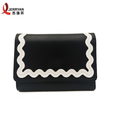 Schwarze Damen Clutch Bag Clip Wallet für Damen
