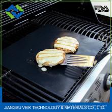 antiadhésif résistant à la chaleur réutilisable conforme à FDA barbecue grill mat fda