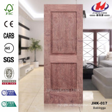 JHK-017 Buen diseño de dos paneles MDF Materail baño proyecto Hoja de puerta de palisandro de alta calidad