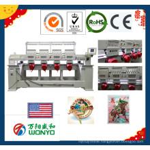 4 Head Computerize Cap Flat Sequin Boring Cording Embroidery Machine