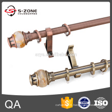 2016 high quality stainless steel curtain rods for hotel supplies