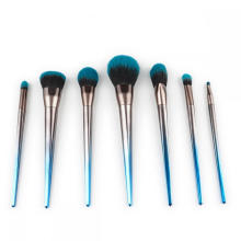 7 Pieces Crystal Handle Kabuki Makeup Brush Set