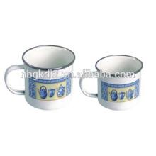 stainless steel 201/304 printed enamel camping mugs for drinking